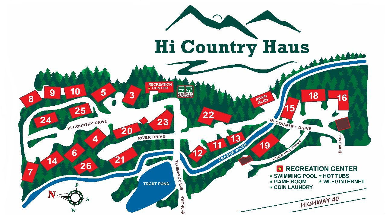 Hi Country Haus, Winter Park CO | Map